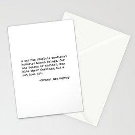 A cat... Ernest Hemingway Stationery Cards