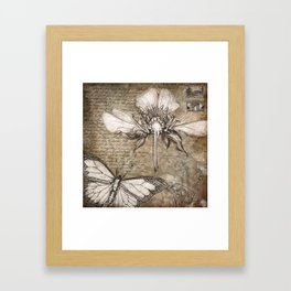 Botanical Collage #2 Framed Art Print