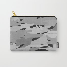 Camo - Black & white Carry-All Pouch