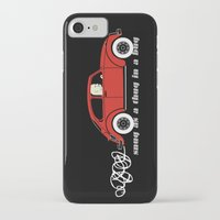 volkswagon iPhone & iPod Cases featuring Snug as a Thug in a Bug (red) by The Wallpaper Files