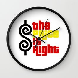 The price is right Wall Clock