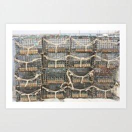 Lobster Traps Art Print