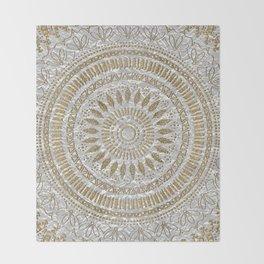 Elegant hand drawn tribal mandala design Throw Blanket
