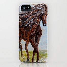 Splashing the Light - Young Horse iPhone Case