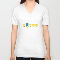 simpsons V-neck T-shirts featuring The Simpsons by tycejones