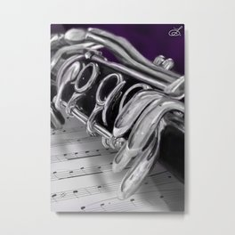 Close-Up Clarinet Art Print Metal Print