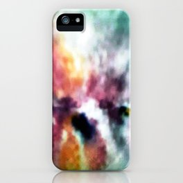 WATERCOLOUR PRINT IN BLUES AND LILACES iPhone Case