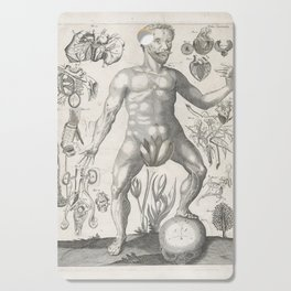 Male Anatomical Medical Chart from 1702 Cutting Board