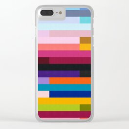 Vibrant and colorful geometry IV Clear iPhone Case