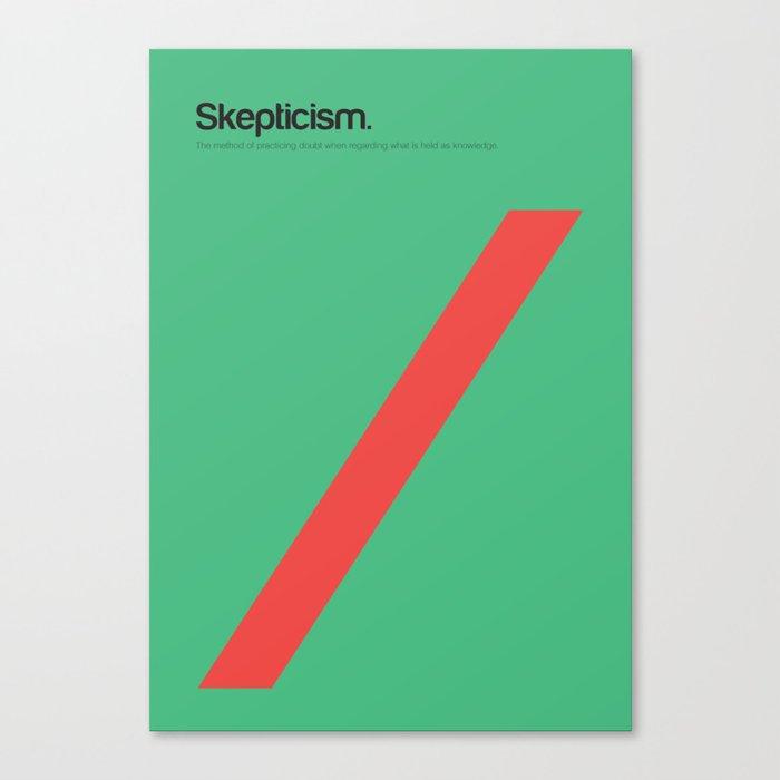 Skepticism Canvas Print