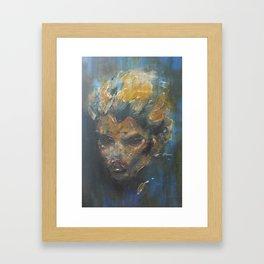 Mystery Blonde Framed Art Print