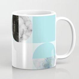 Mid Modern Moon and Sun Geometric Pattern - blue Coffee Mug