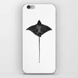Eagle Ray Watercolor iPhone Skin