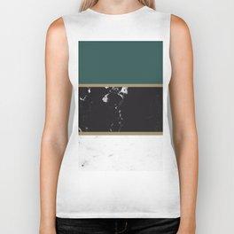 Marble Mix Stripes #4 #black #white #green #gold #decor #art #society6 Biker Tank