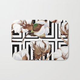 Cotton Flower Pattern 07 Bath Mat