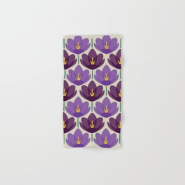 Crocus Flower Hand & Bath Towel
