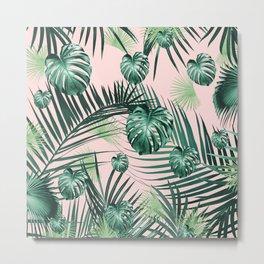 Tropical Jungle Leaves Garden #2 #tropical #decor #art #society6 Metal Print