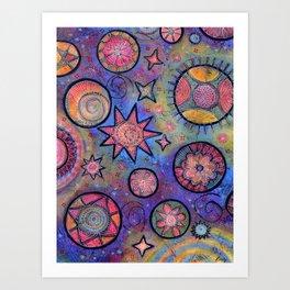 Sending Love and Healing Light Celestial Design Art Print