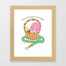 It puts the lotion in the basket. // Silence of the Lambs Framed Art Print