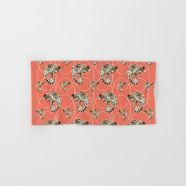 Chameleon Oneness in Midnight Vintage Psychedelic Salmon Space Hand & Bath Towel