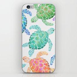 Sea Turtle - Colour iPhone Skin