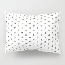 Watercolor Polka Dot Pattern   Black and White Pillow Sham