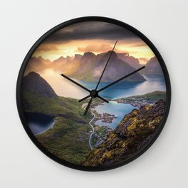 Reinebringen norway Wall Clock
