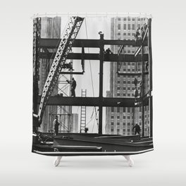 Steel workers New York City Shower Curtain