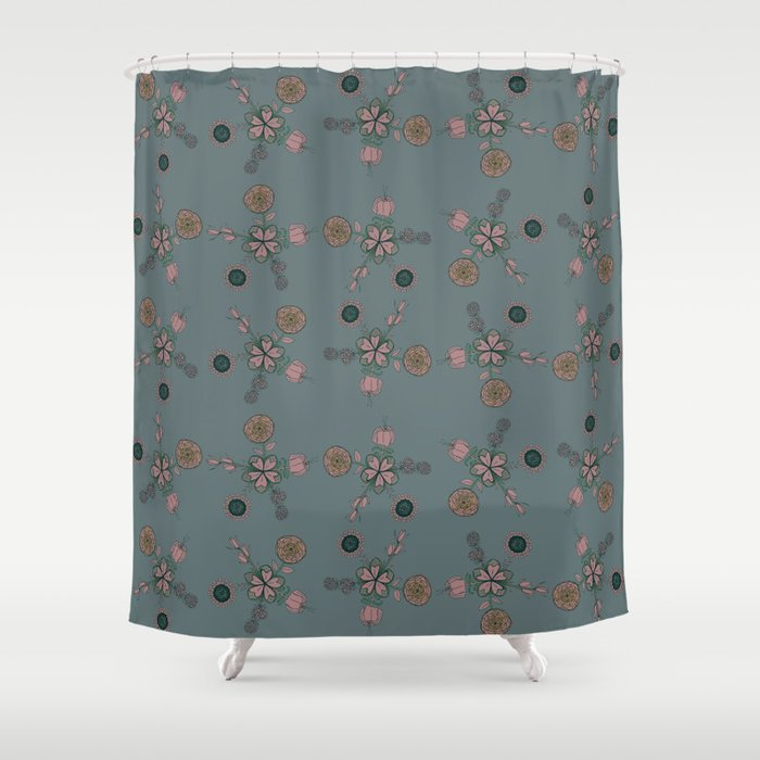 FLOWERING FLOWER Shower Curtain by soniabegonia | Society6