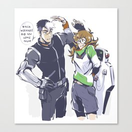 PIDGE_SHIRO_SKTECHY_MESSY Canvas Print