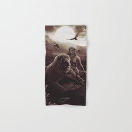 VIII. Strength Tarot Card Illustration (Warmth) Hand & Bath Towel