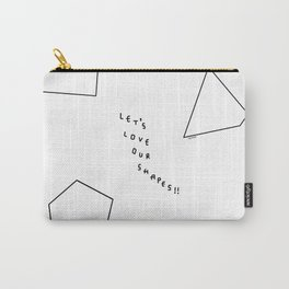 Let's Love Our Shapes! no.5 - black and white geometric shapes Carry-All Pouch