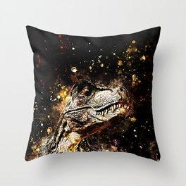 tyrannosaurus rex wssepia Throw Pillow