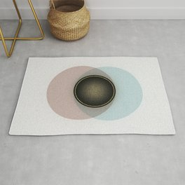 Minimalistic Vintage Design with gold accents Rug