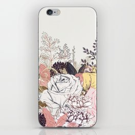 Miles and miles of rose garden. Retro floral pattern in vintag style iPhone Skin