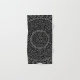 blackwhite mandala Hand & Bath Towel