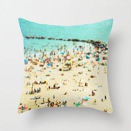 Coney Island Beach 2 Throw Pillow