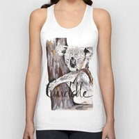 cuddle Tank Tops featuring koala cuddle by Katy Lloyd