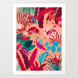 Love is in the Jungle Air Art Print