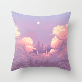 Pastel Castle Throw Pillow