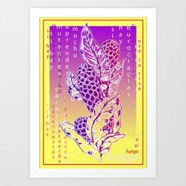 o el fuego Art Print