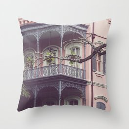 Uptown New Orleans Throw Pillow