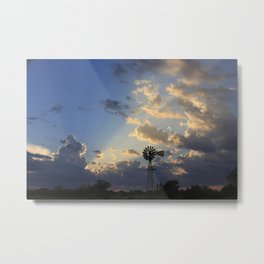 God's Ray's shining through Metal Print