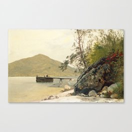 John Frederick Kensett Landing at Sabbath Day Point Canvas Print
