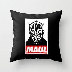 Obey Darth Maul (maul text version) - Star Wars Throw Pillow