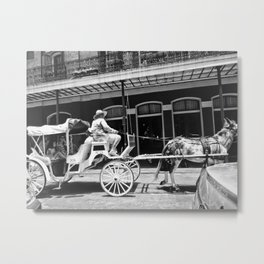 Mule Drawn Carriage Metal Print