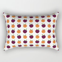 Mini Peachy Plummy Hand-Painted Orchard Fruits Rectangular Pillow