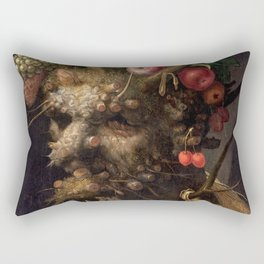 Four Seasons In One Head - Giuseppe Arcimboldo Rectangular Pillow