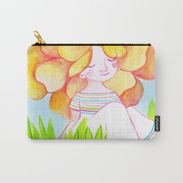 Peachy Rose Flower Girl Carry-All Pouch