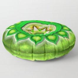 "Anahata Chakra - Heart Chakra - Series ""Open Chakra"" Floor Pillow"